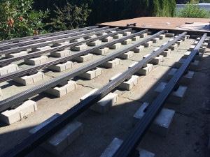 Auflagepads Terrassenpads aus Gummimatten